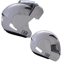 Capacete Moto Ebf E8 Articulado Robocop Promoção Branco