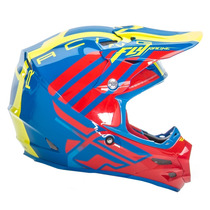 Capacete Motocross Off-road Fly F2 Carbon Zoom Fibra Tam: 60
