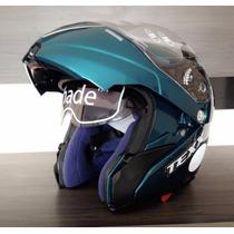 Capacete Moto Articulado Texx Mercúrio Robocop Escamoteavel