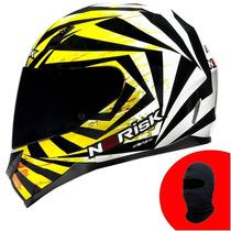 Capacete No Risk Ff391 Fast ( Amarelo ) Grátis Balaclava