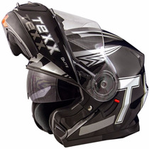 Capacete Robop Texx Blitz Norisk Ls2 Escamoteavel Grafico