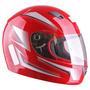 Capacete Moto Ebf 7 Line - Vermelho - Tamanho 56