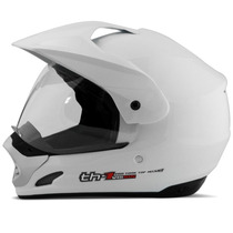 Capacete Moto Cross Pro Tork Th1 Helmet Vision Trilha Branco