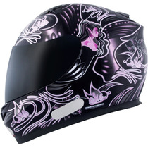 Capacete Mt Blade - New Butterfley Preto E Rosa