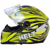 Capacete Helt Strada Neon C/ Oculos Interno Fume N°58 73938