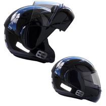 Capacete Moto Ebf E8 Articulado Robocop Promoção Preto
