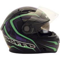 Capacete Vector Nano -preto/lilás/verde ( Rocket Riders)