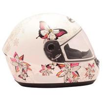 Capacete Peels Spike Butterfly Borboletas Branco Rosa N° 60