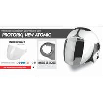 Viseira Injetada 2.2 Pro Tork/new Atomic Cristal