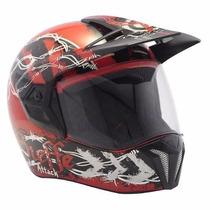Capacete Bieffe 3 Sport Attack Vermelho Preto Dragon Racing