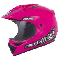 Capacete Mx Pro Vision Com Viseira + Brinde - Rosa 58