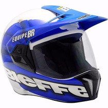 Capacete Bieffe 3 Sport Equipe Br Rally Trilha Cross Enduro