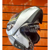 Capacete Taurus Raptor/escamoteável/robocop/com Óculos/prata