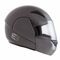 Capacete Ebf E8 Robocop (articulado) Chumbo Tamanho 56-58-60