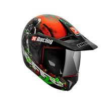 Capacete Bieffe 3 Sport Xracing Vermelho/verde Lançamento