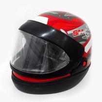 Capacete Moto Taurus San Marino Graffic Fechado Vermelho 62