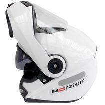Capacete Norisk Ff370 Escamoteável Robocop Branco C/ Óculos