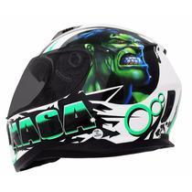 Capacete Nasa Sh 881 Beast Verde Hulk Super Leve