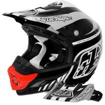 Capacete Motocross Troy Lee Designs Se3 Brasil Preto Branco