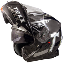 Capacete Moto Texx Blitz Escamoteável Double Vision Tam: 56