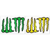 Kit Adesivo Resinados Monster Mini Verde E Amarelo