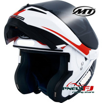 Capacete Mt Optimus Articulado Robocop - Quest - Red / Black