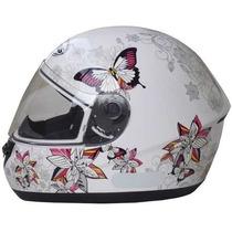 Capacete Peels Spike Butterfly Branco Borboleta Promoção