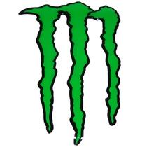Adesivo Resinado Monster Gg Verde Borda Preta