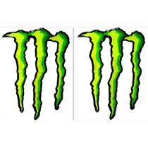 Kit Adesivo Resinado Monster Gg Verde Degrede Borda Preta