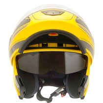 Capacete Moto Peels Urbanglory C/óculos Fumê Robocop Amarelo