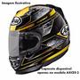 Capacete Arai Helmet Axces 2 Chronus Yellow Amarelo Original