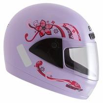 Capacete Ebf Fit Penelope Lilas Feminino É Na Dragon Racing