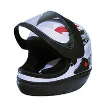 Capacete Moto Branco San Marino Tamanho 58