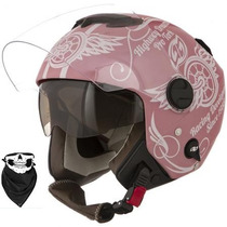 Capacete New Atomic Highway Dreams Rosa Fosco Feminino
