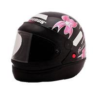 Capacete Moto Femme Preto San Marino Tamanho 56
