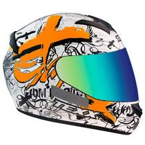Capacete Motociclista Texx Bravo Web Laranja Tam 60