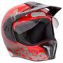 Capacete Bieffe 3 Sport Red Nose Vermelho N° 58