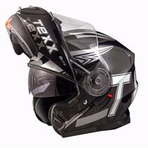Capacete Texx Blitz Dupla Viseira Articulado Robocop