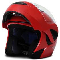 Capacete Escamoteável Pro Tork Mod V-pro Jet Vermelho Moto