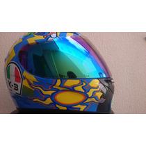 Capacete Valentino Rossi 46 Italia K-3 Wake Up - 2 Viseiras