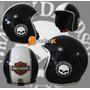 Capacete Old School Harley Davidson Inmetro - Frete Grátis