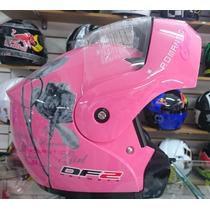 Capacete Robocop Feminino Df2 Romantic Girl E Rosa 55-56