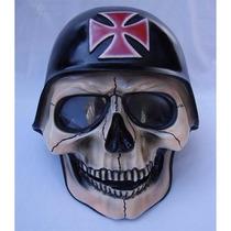Capacete Crânio Caveira Esqueleto Custom Chopper
