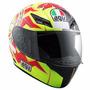 Capacete Motociclista Agv K3 Sun&moon Valentino Rossi Tam 60