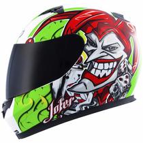 Capacete Mt Blade New Joker Coringa Verde Com Frete Grátis