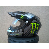 Capacete Cross Monster Energy Modelo 2013 Top Com Viseira