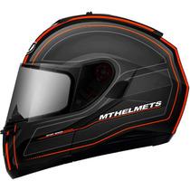 Capacete Mt Helmets Blade Raceline Preto Laranja - 60