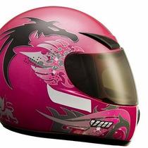Capacete V10 Rosa Dragon Pink N.56 + Viseira Fumê !!!