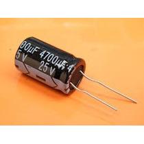 100x Capacitor Eletrolitico 4.700uf X 25v * 105ºc * 4700 Uf