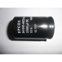 Capacitor Eletrolitico 22.000uf X 63v * 22000uf X 63v *epcos
